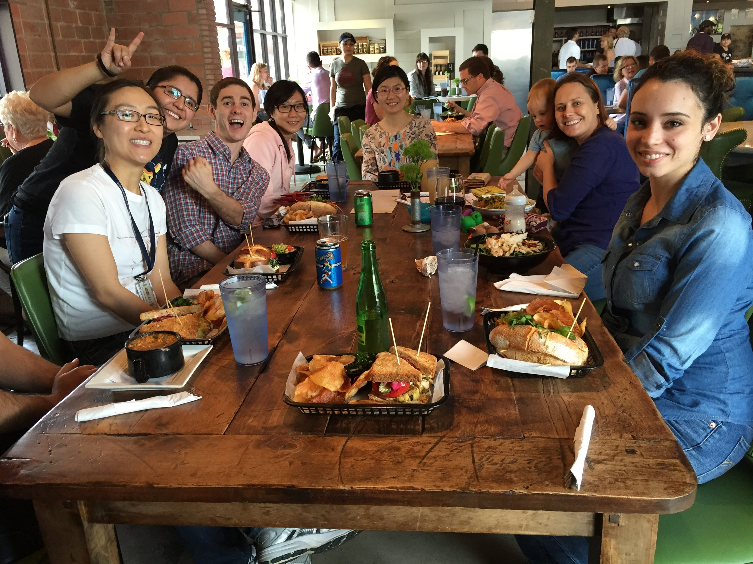 Westbrook Lab celebrating Tiffany's paper being accepted for publication by Nature (2015).