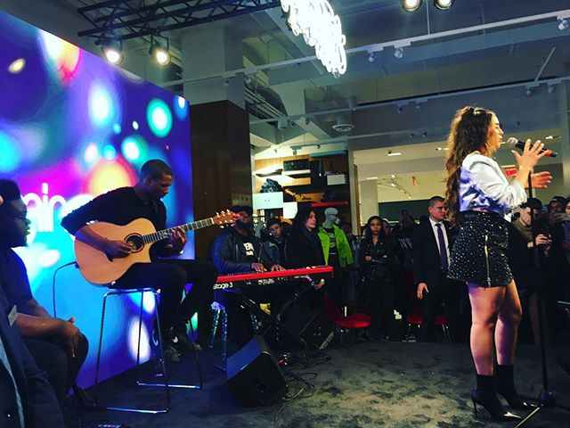 @bloomingdales Mix Master debut with live performance by @laurenjauregui #modelB