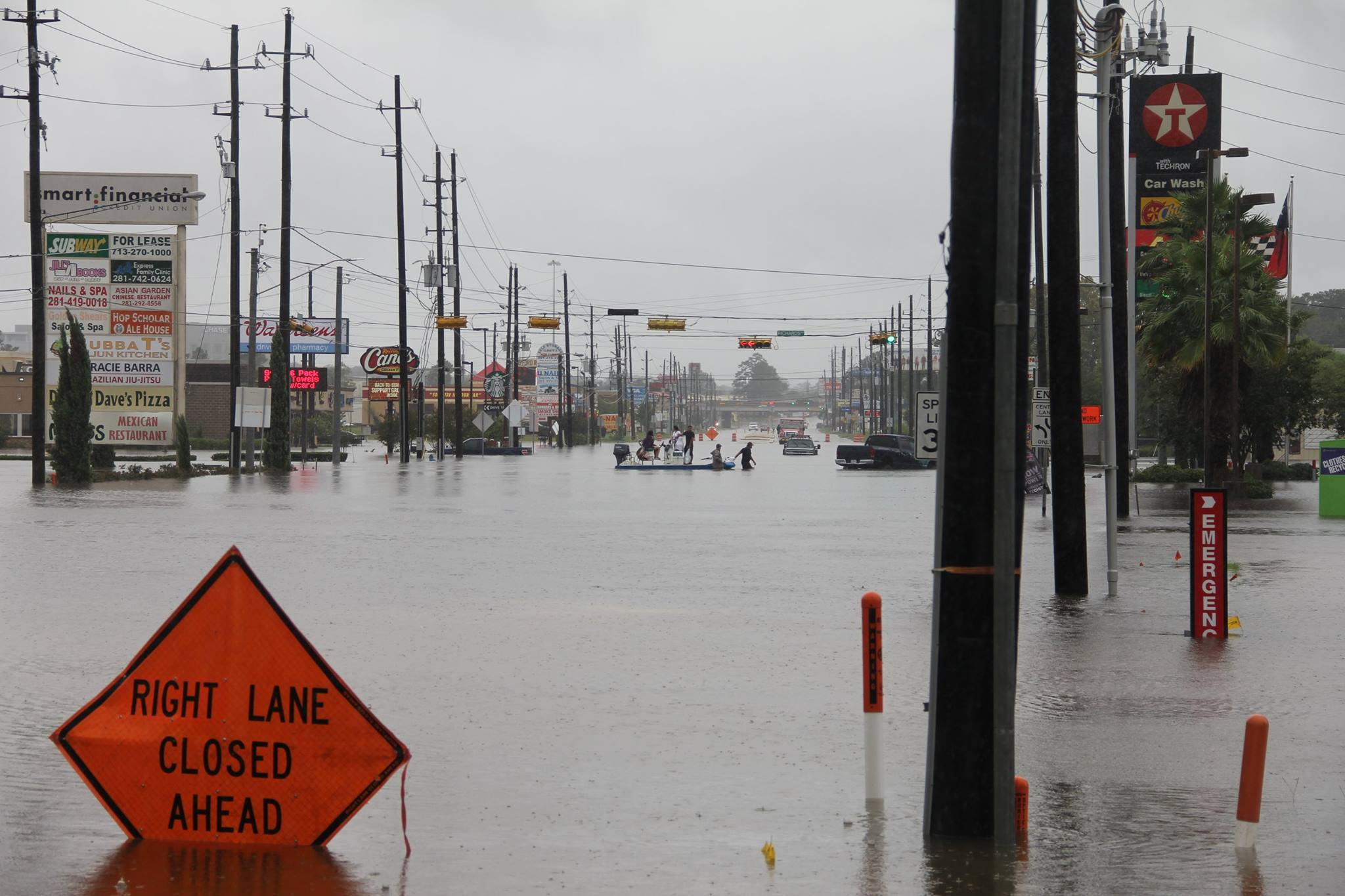 A view of the street in front of the Houston office