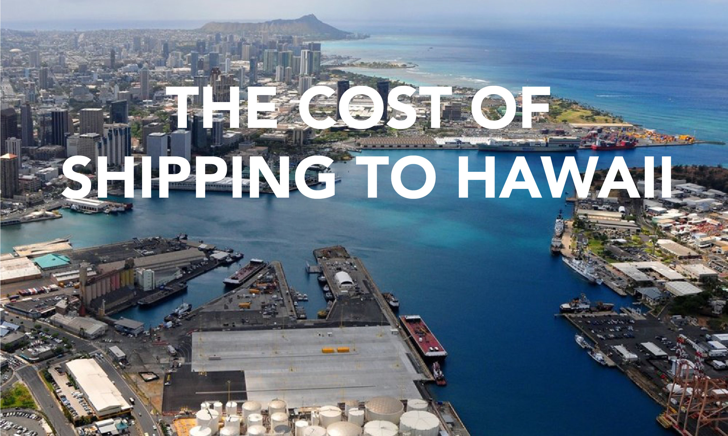The Port of Honolulu. Can you find the ship in the harbor?