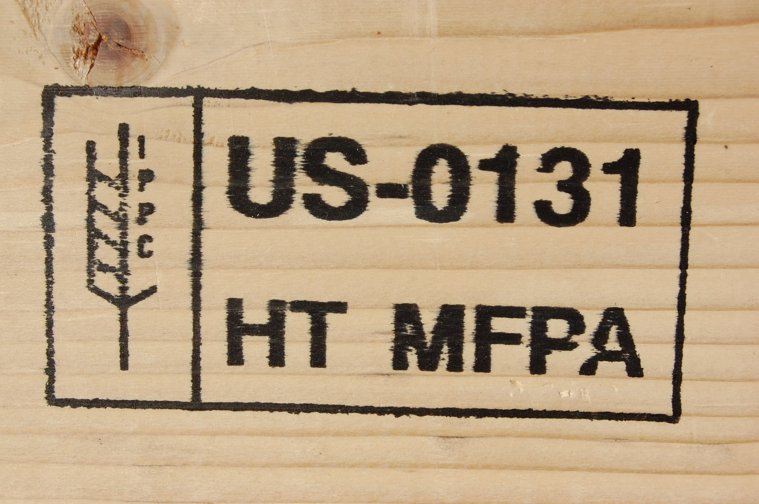 The UN's stamp of approval for treated wooden container material
