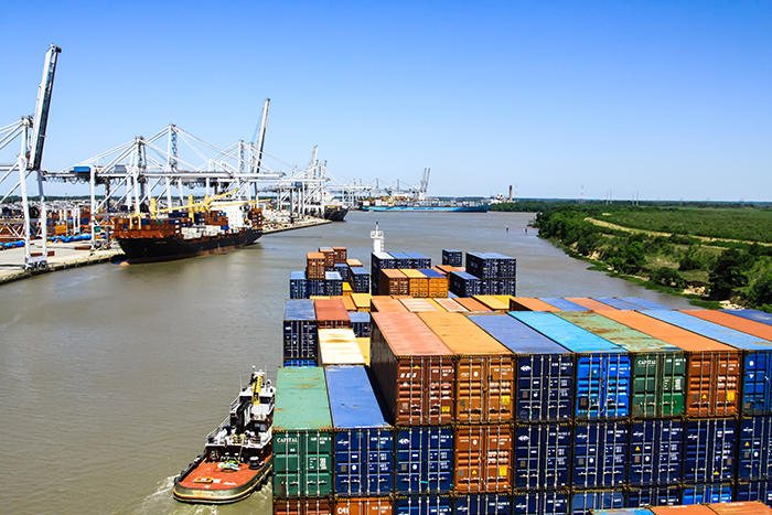 The port of Savannah handled 1.4 million TEU of imports from Asia last year, an 11 percent increase from 2017, according to PIERS. Photo credit: Shutterstock.com.