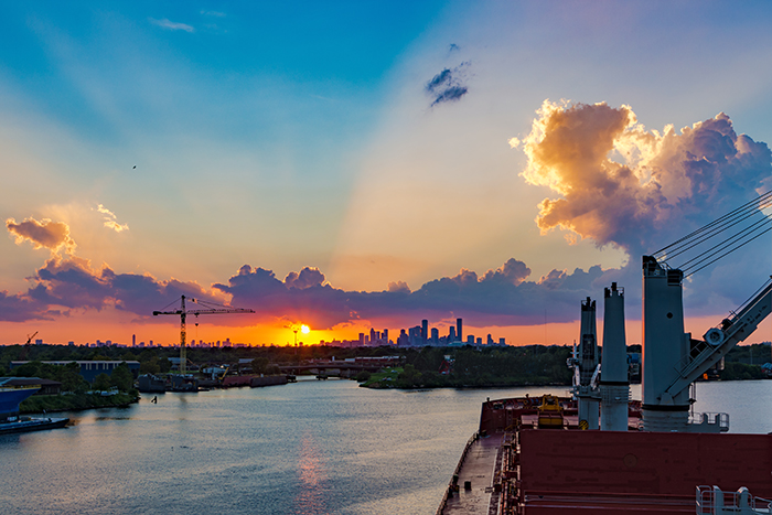 The ports of Houston, Mobile, and New Orleans handled 88 percent of the total 3.3 million TEU of containerized cargo moving through the US Gulf last year. Photo credit: Shutterstock.com.