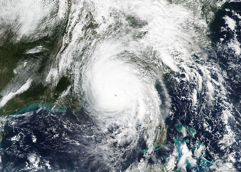 HURRICANE MICHAEL MAKING LANDFALL ON THE FLORIDA PANHANDLE ON OCTOBER 10, 2018. (PHOTO: NASA)