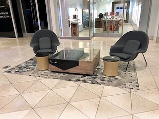 Here are some more photos of our installation of a shopping mall in California. . #hospitalitydesign #shoppingmalldesign #shoppingmall #luxurylogistics #jmcglobal