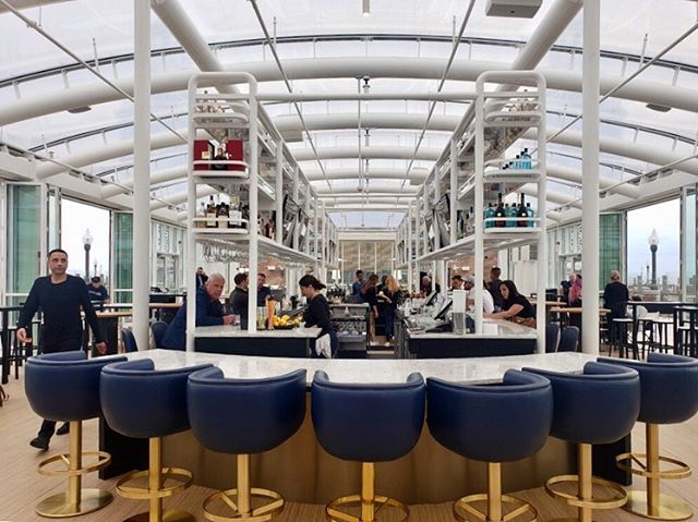 We recently completed the installation of a rooftop bar in Chicago. Here are some photos of the interior in use. We couldn't be more pleased with how it turned out. Let us quote on your renovation or new build hospitality project. Contact us at quotes@jmcgl.com . #jmcglobal #luxurylogistics #hospitalitydesign #hospitalityffe #hospitalityinstallation #chicago #chicagoluxury