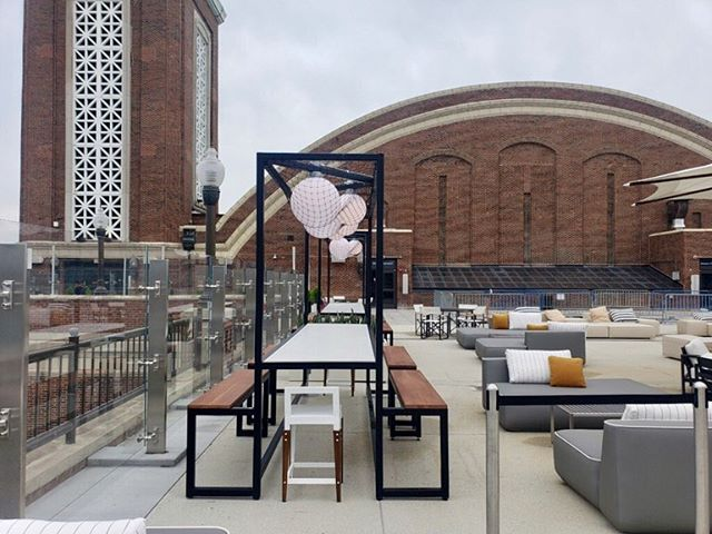 Here's the outdoor seating at the bar we worked on in Chicago. Did we mention how pleased we are with the outcome? Let us bid on your next hospitality project. Contact us at quotes@jmcgl.com . #jmcglobal #hospitalitydesign #hospitalityffe #hospitalityinstallation