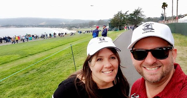 Dawn and Scott were given tickets by a vendor for the Sunday round of the US Open at Pebble Beach. They had a great time, and are very thankful for the tickets! . #jmcglobal #luxurylogistics #pebblebeach #usopen #pebblebeachgolf