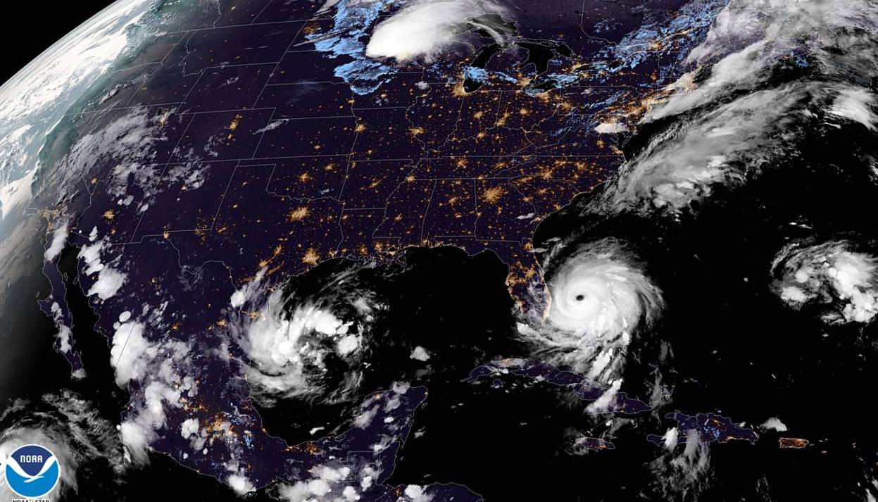 Satellite imagery shows Dorian stalled over the Bahamas Photo: NOAA