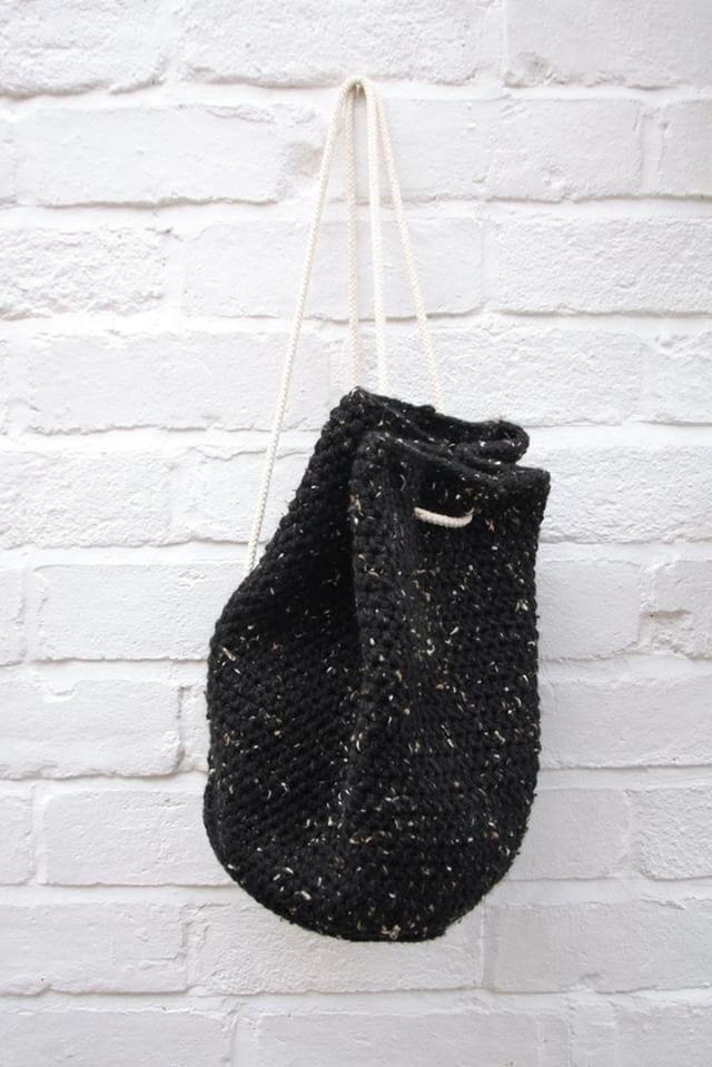 Crocheted Tweed Backpack by Carolyn Carter £40