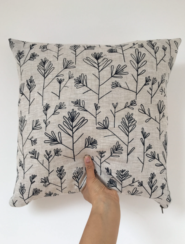 Olive Branch Cushion by Azra Bano £40