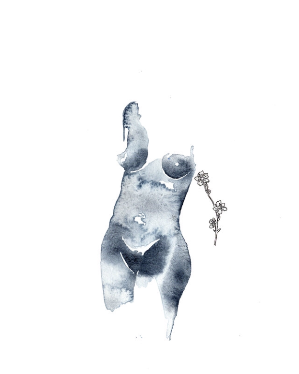 Indigo Bleue Ink Drawings by This Lakshmi £40