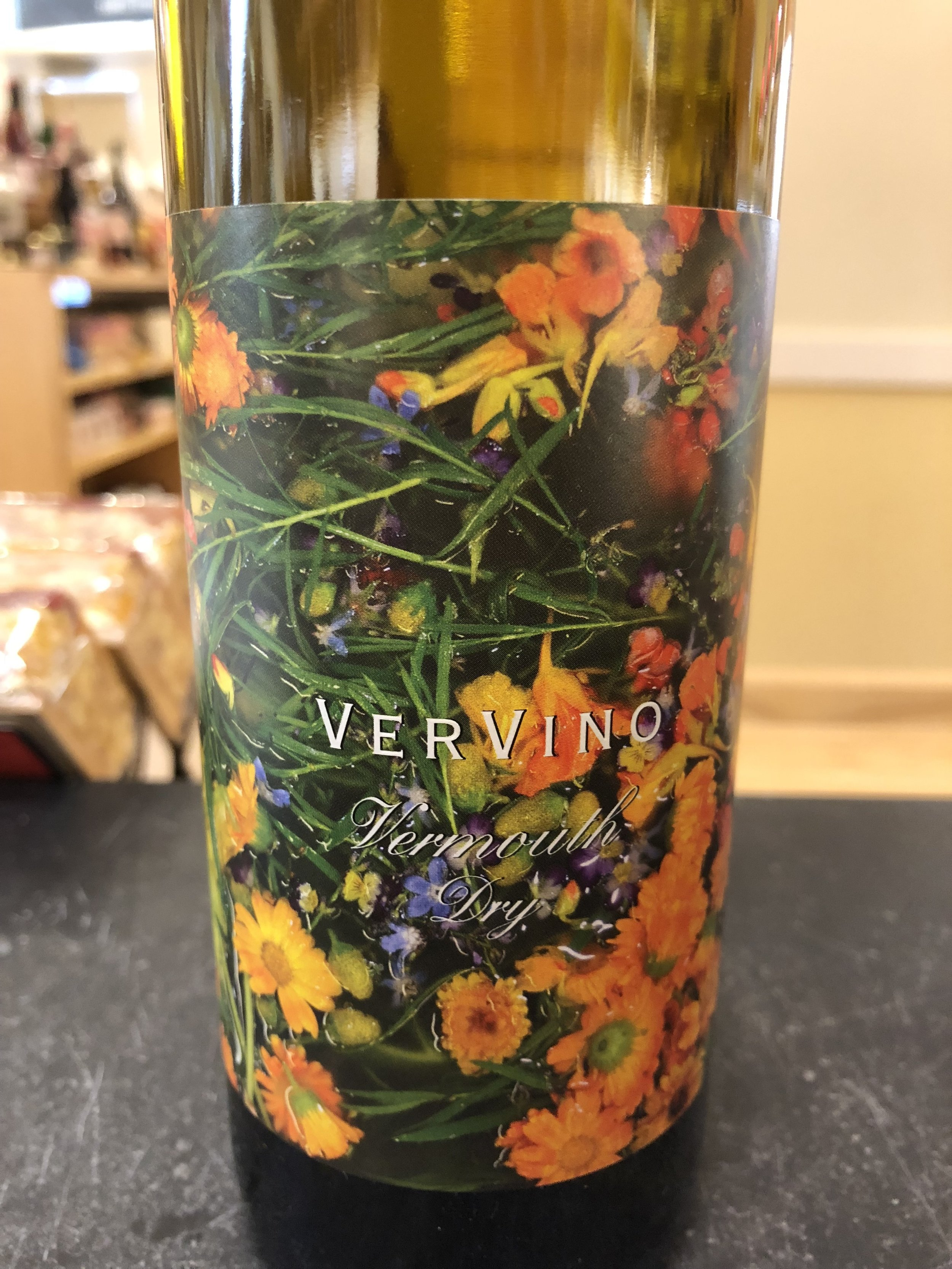ALL the herbs. VV2's label is an actual aerial photo of the vermouth vat.
