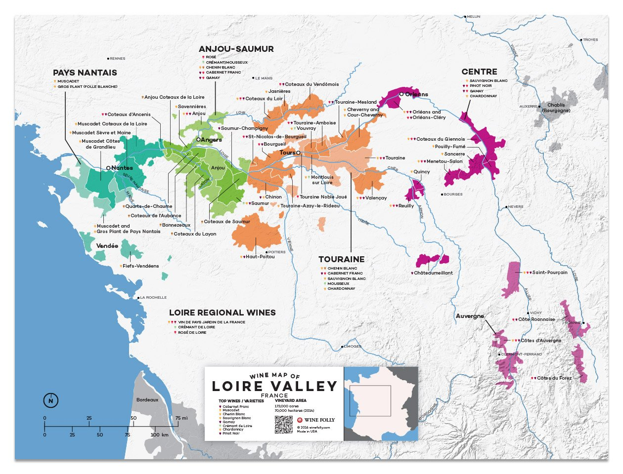 Map credit:  Wine Folly