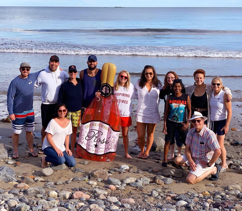 The team last week on our Staff Appreciation Day at Preston Beach, Marblehead.
