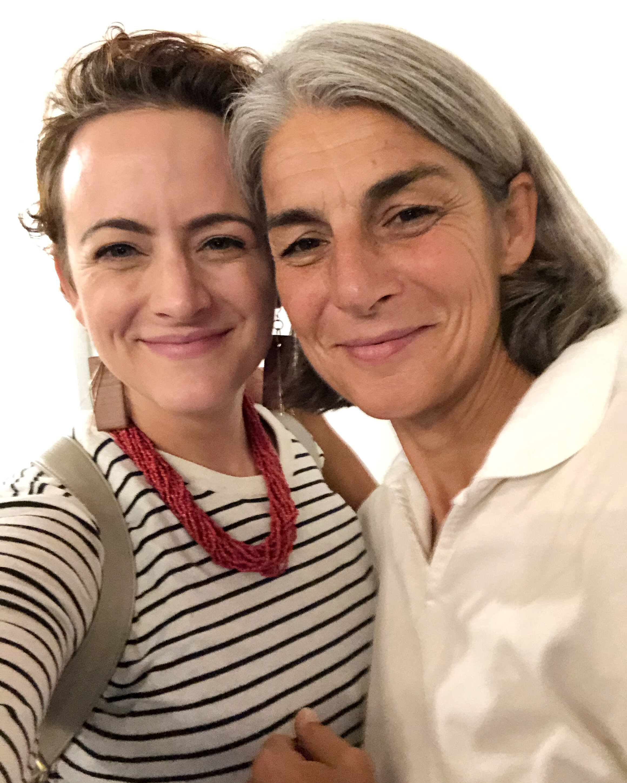 Me and Elisabetta Foradori, Queen of Trento.