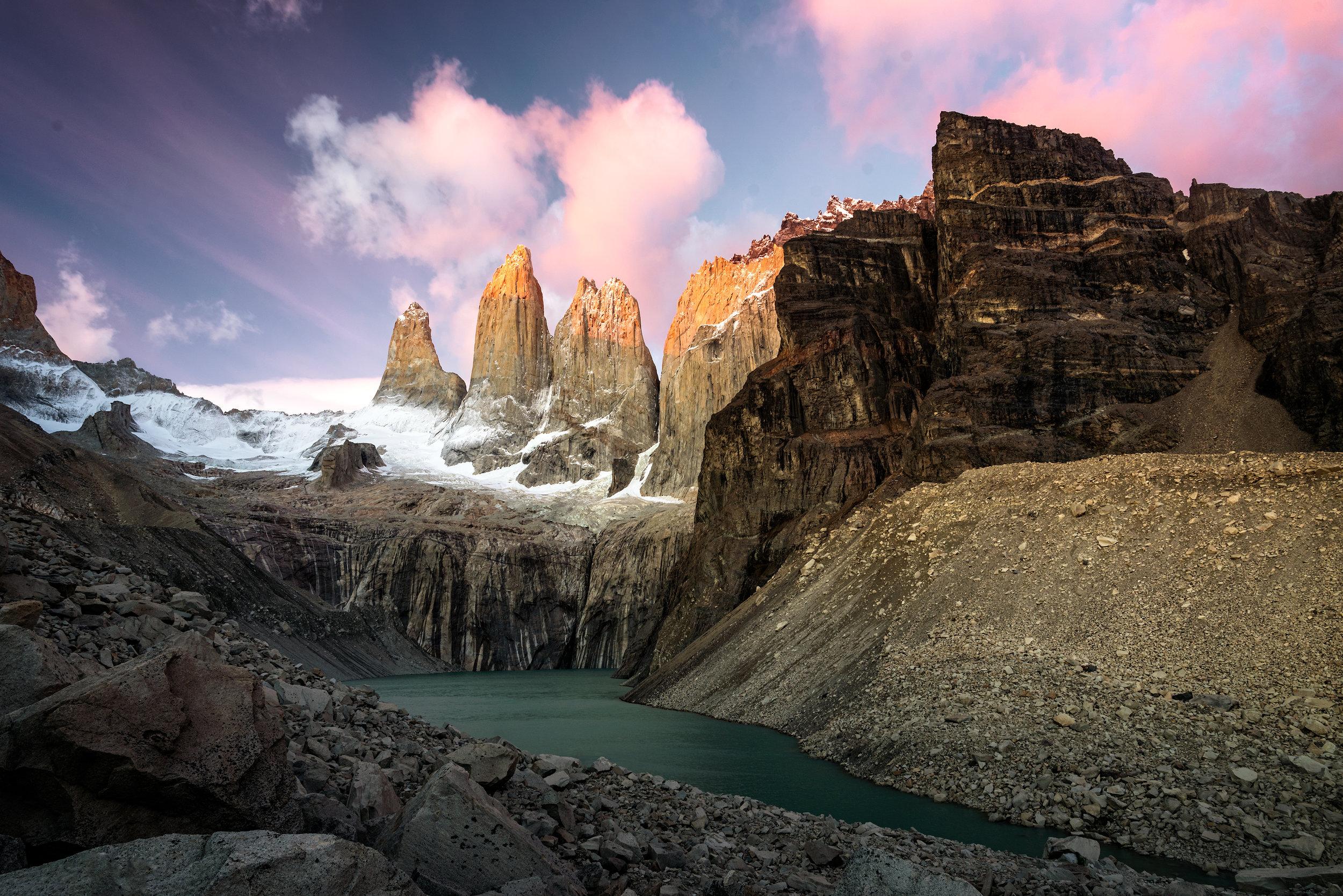 Las Torres, Torres del Paine, Patagonia
