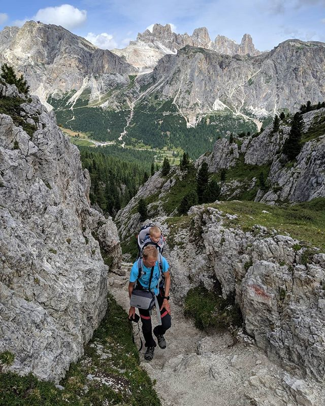 Last hike in the Dolomites during this trip. #optoutside #alwaysmoving #passofalzarego