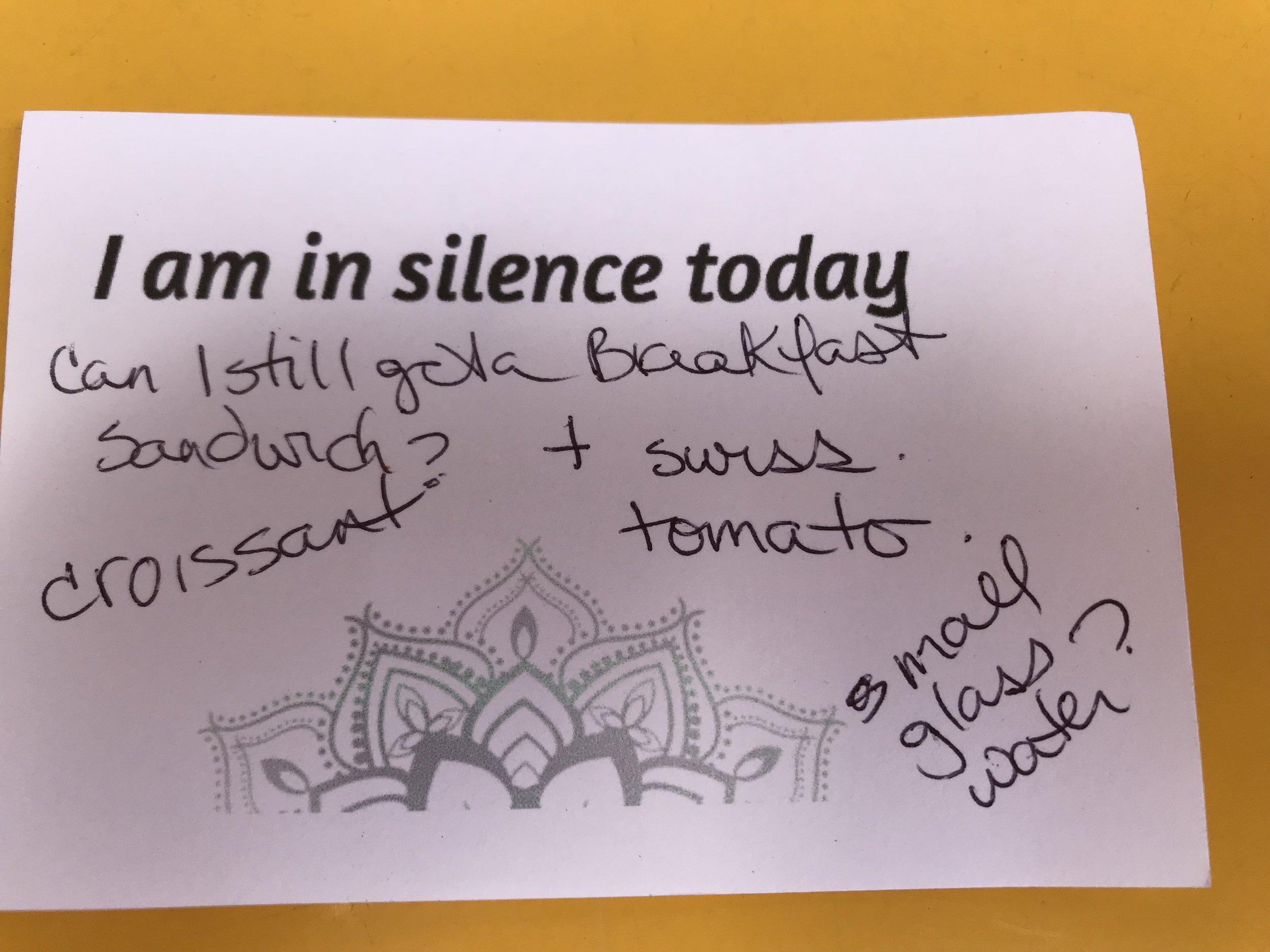 meditation silence