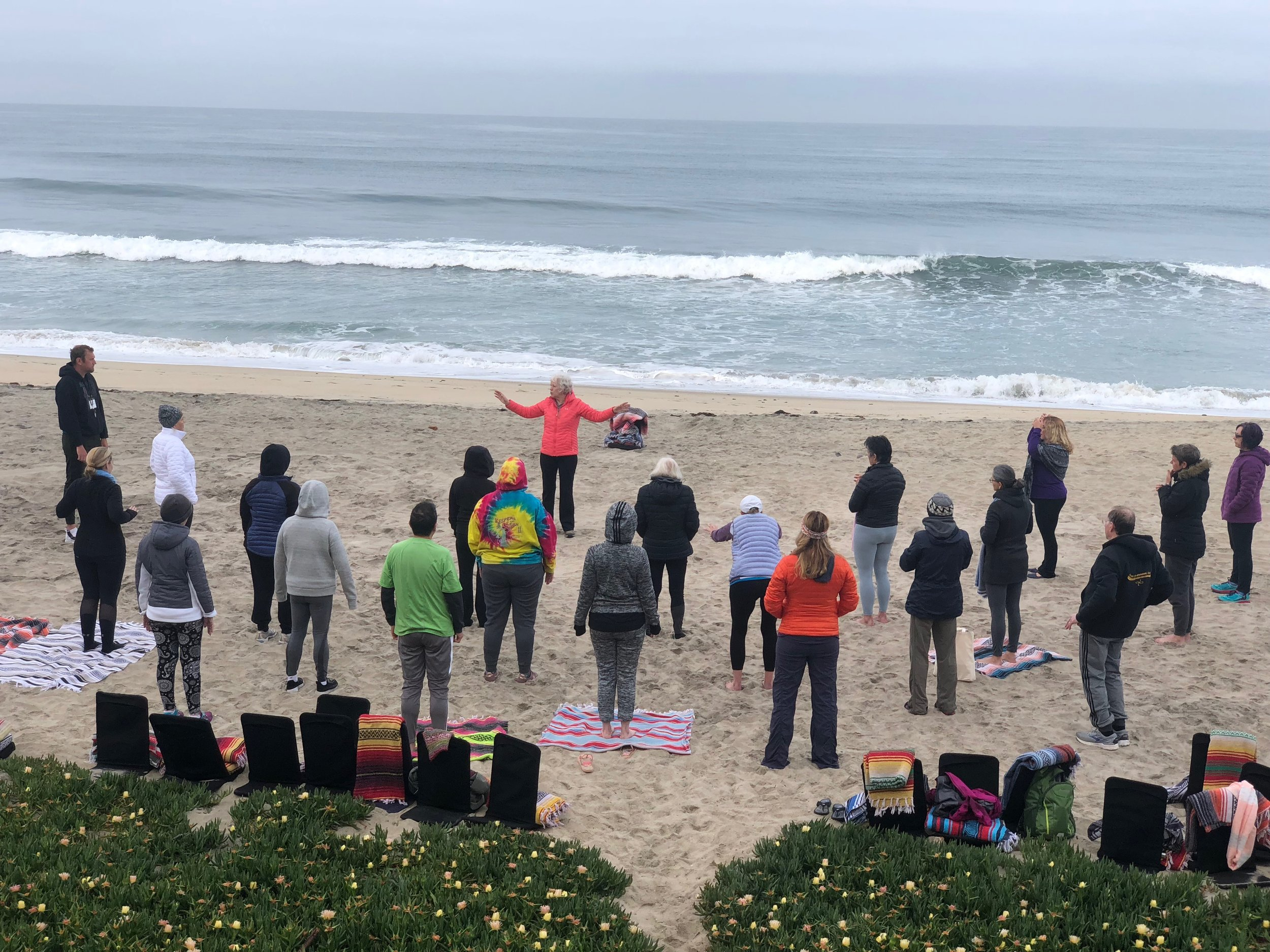 Qigong on the beach
