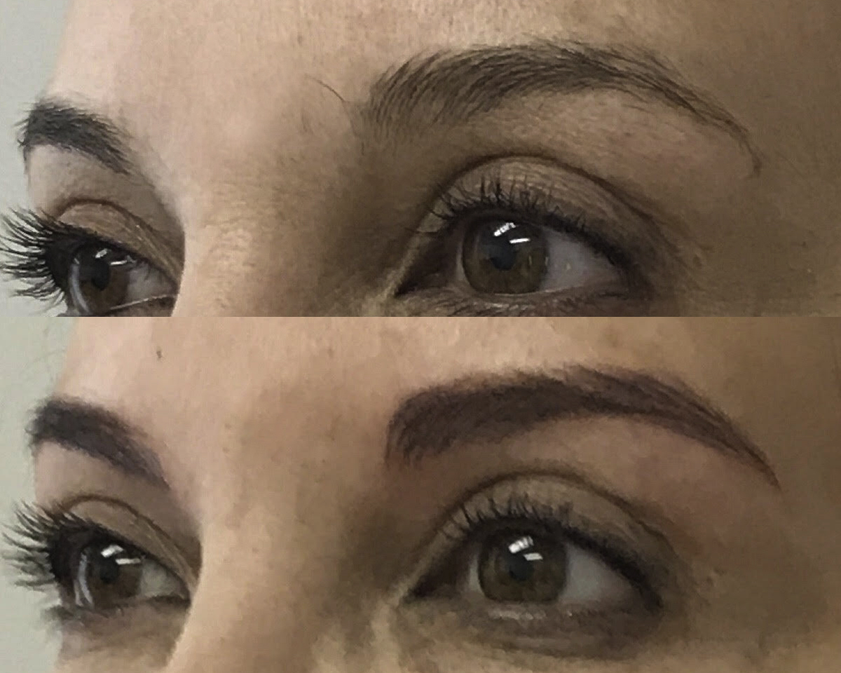 Microblading Before and After - AB