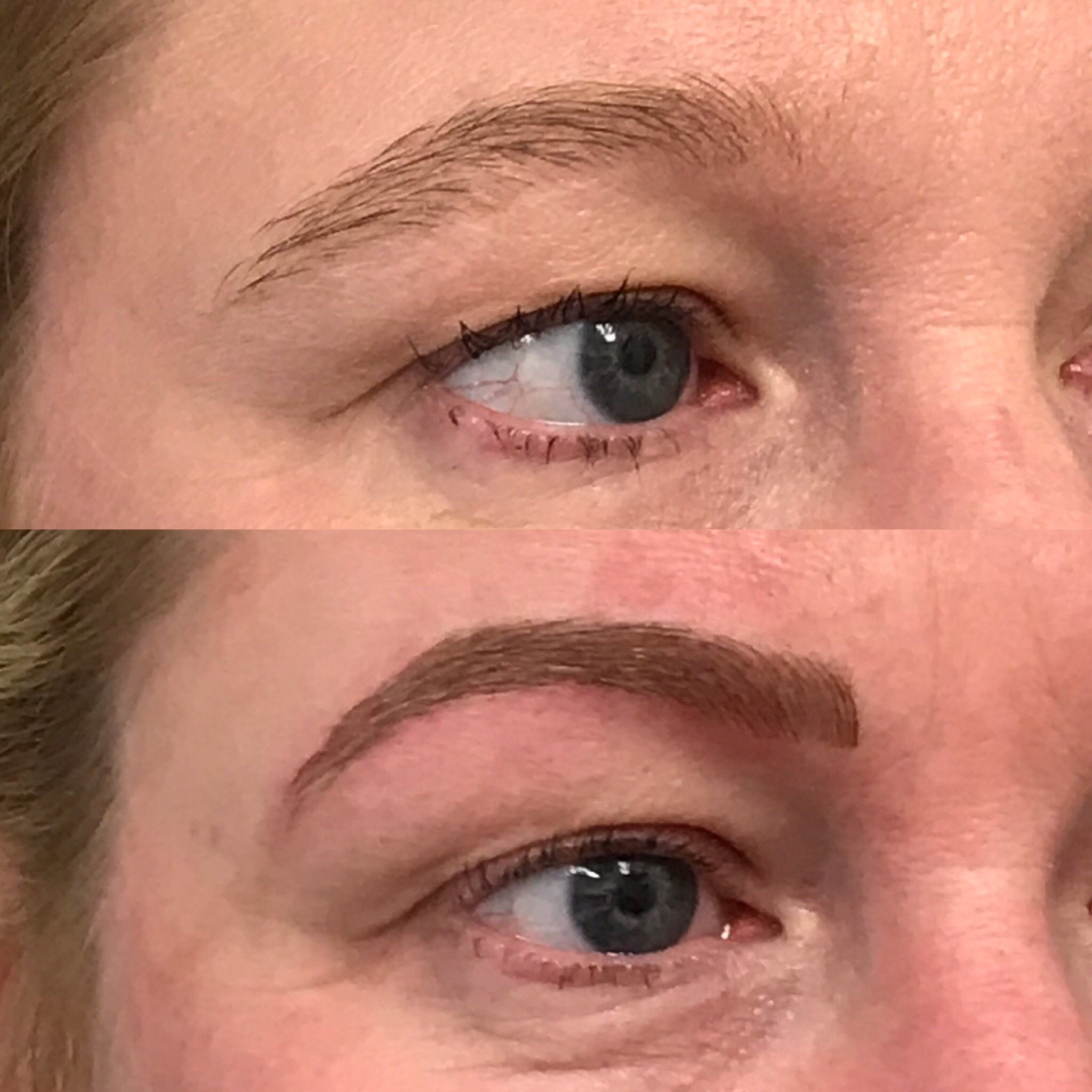 Microblading Before and After - BJ