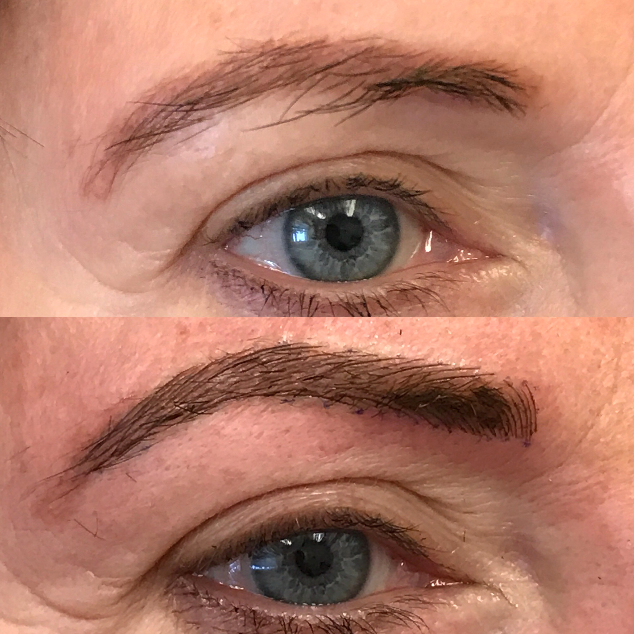 Microblading Before and After - DH