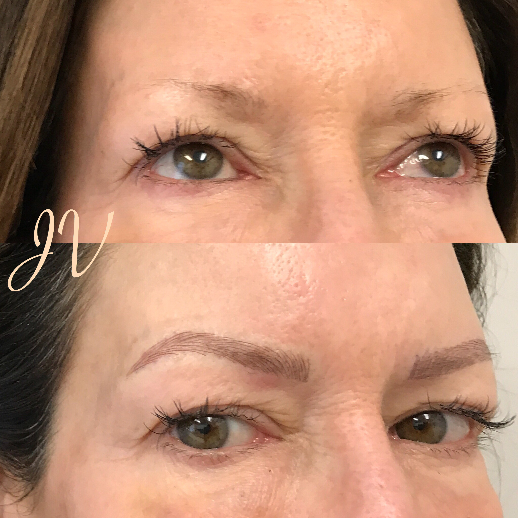 Microblading Before and After - JK