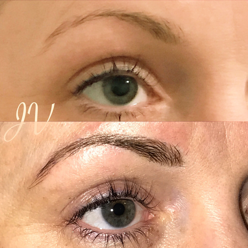 Microblading Before and After - EK
