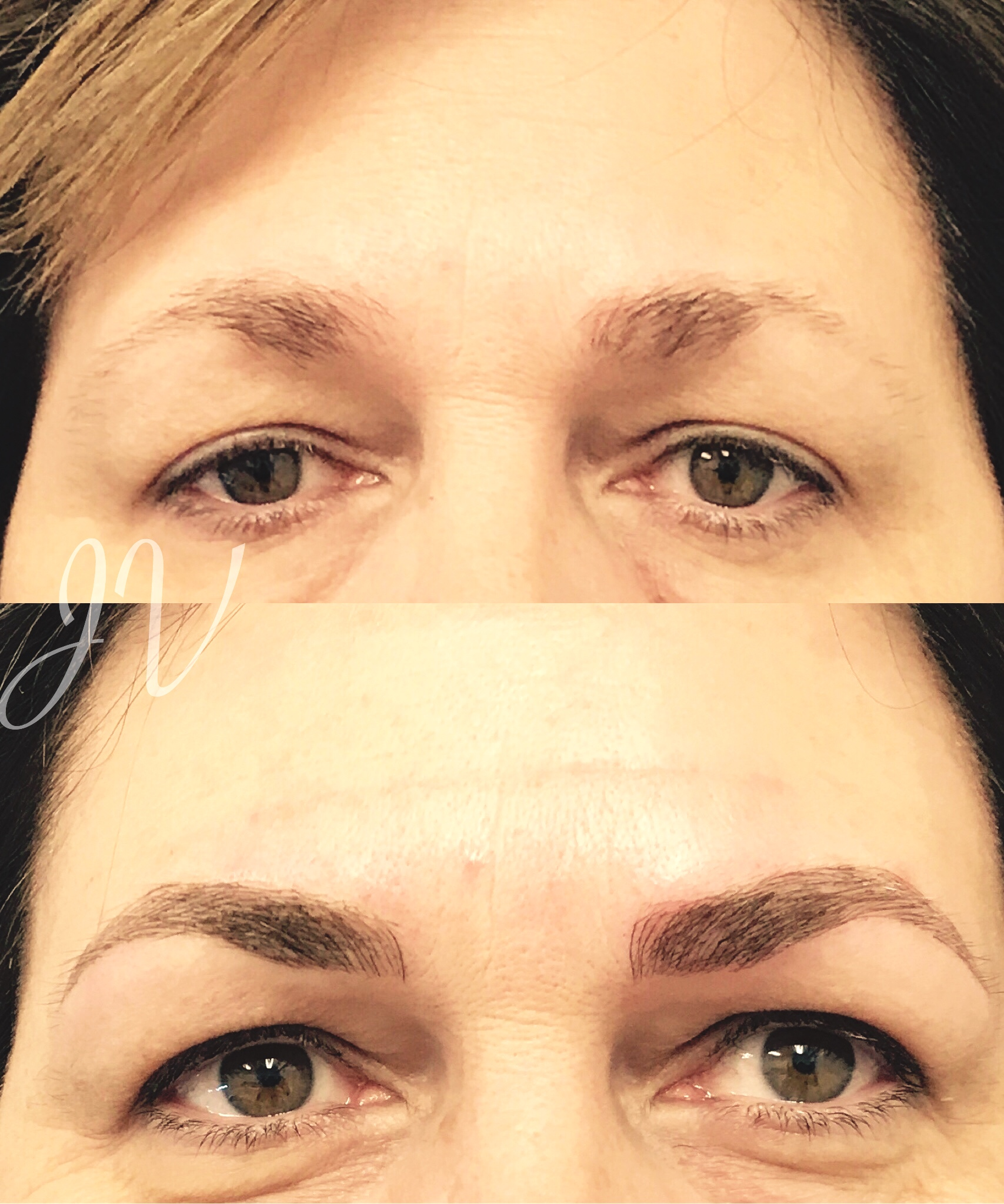 Microblading Before and After - CL