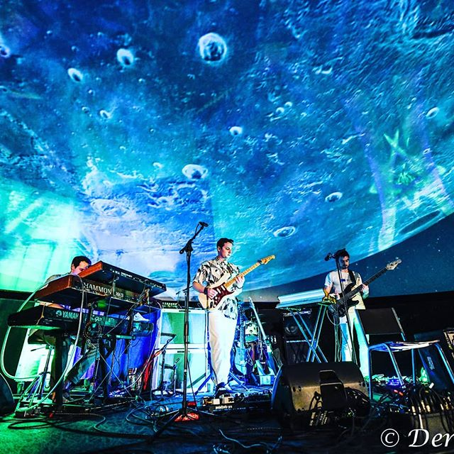 Tomorrow night we hit @milehighspiritsdistillery! @djmiles89 photography #intergalactic #progressivefunk #bandshot #outerspace #shredfunk #fiskeplanetarium #wevelandedonthemoon