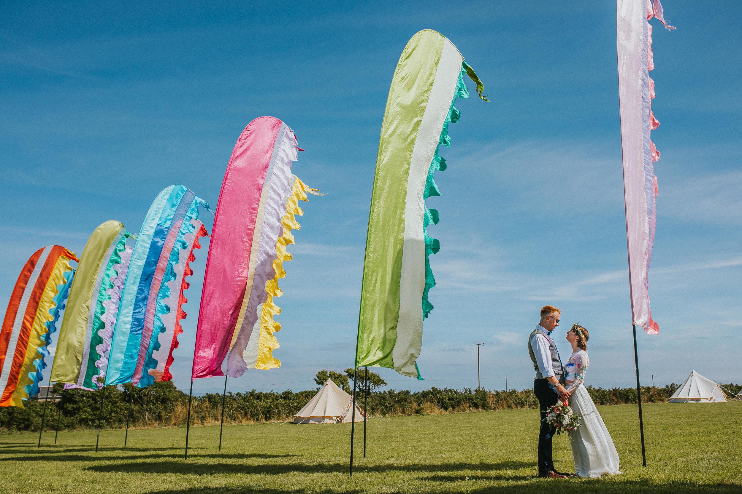 Tremorna farm festival wedding photography