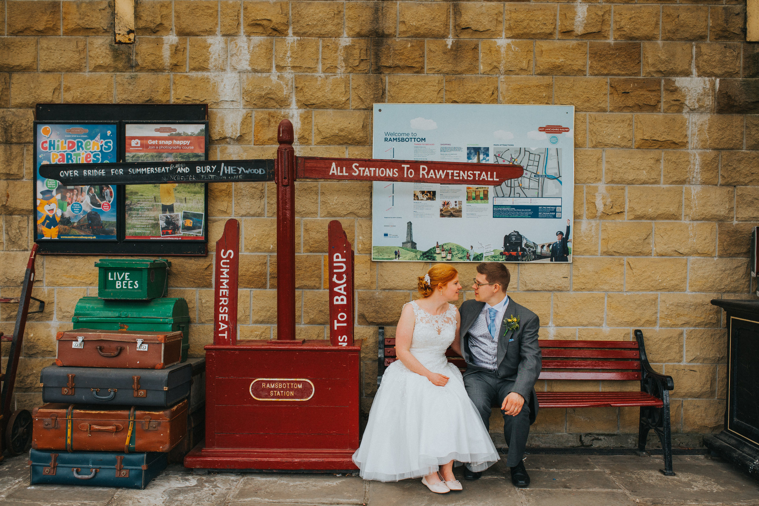 ramsbottom train station wedding photography