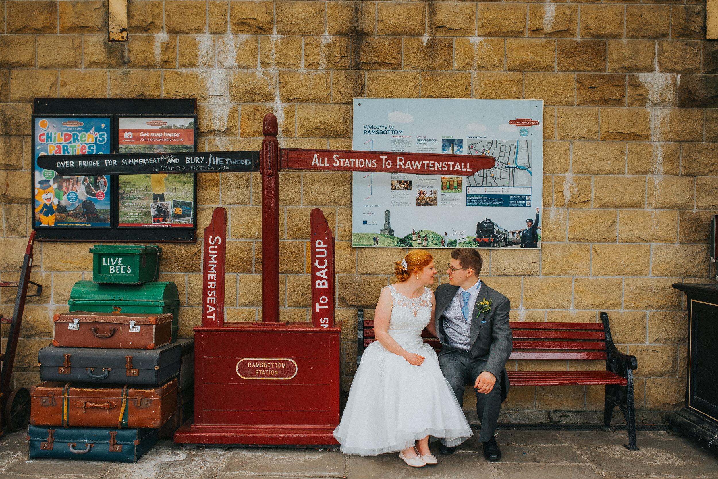 ramsbottom train station wedding photography