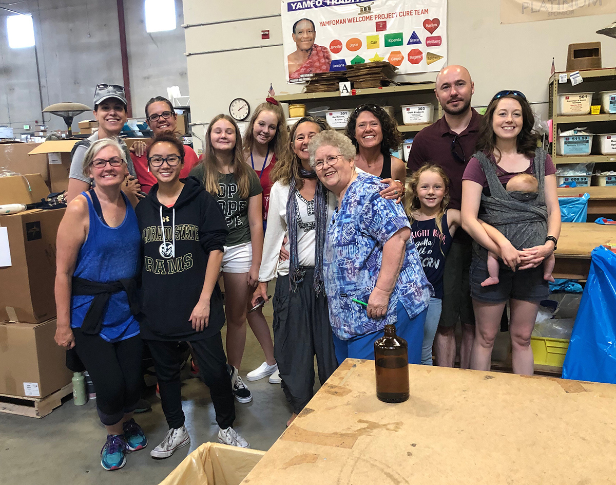Our group is all smiles after volunteering at Project C.U.R.E. Denver!