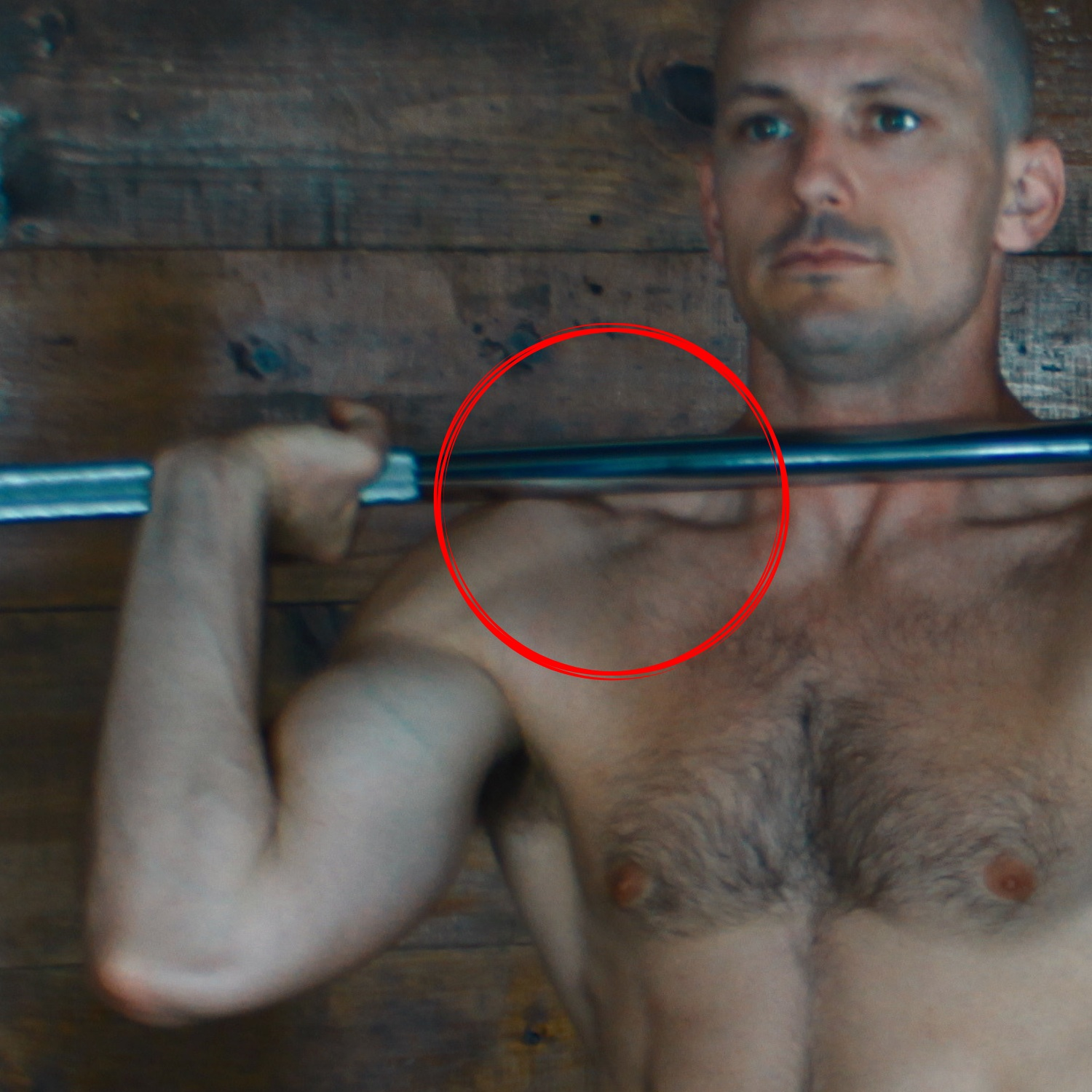 When front racking the bar, our goal is to have the bar resting on the shoulders with the wrists and hands relaxed. The bar should NOT be held/supported by the arms, but instead be supported by the trunk. We are looking for four points of contact: the outsides of the shoulders and the area around the collarbones. -