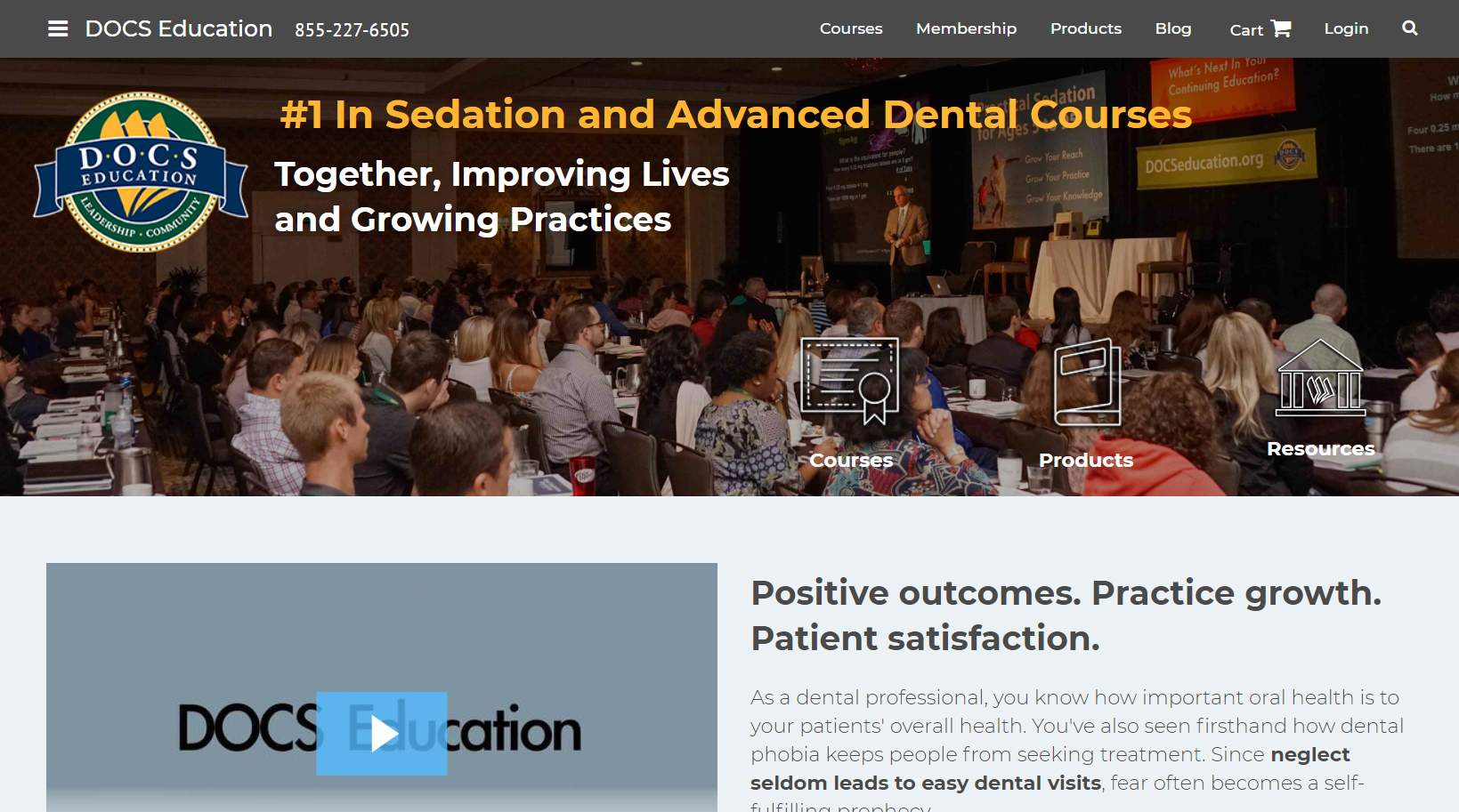 The redesigned DOCS Education homepage.