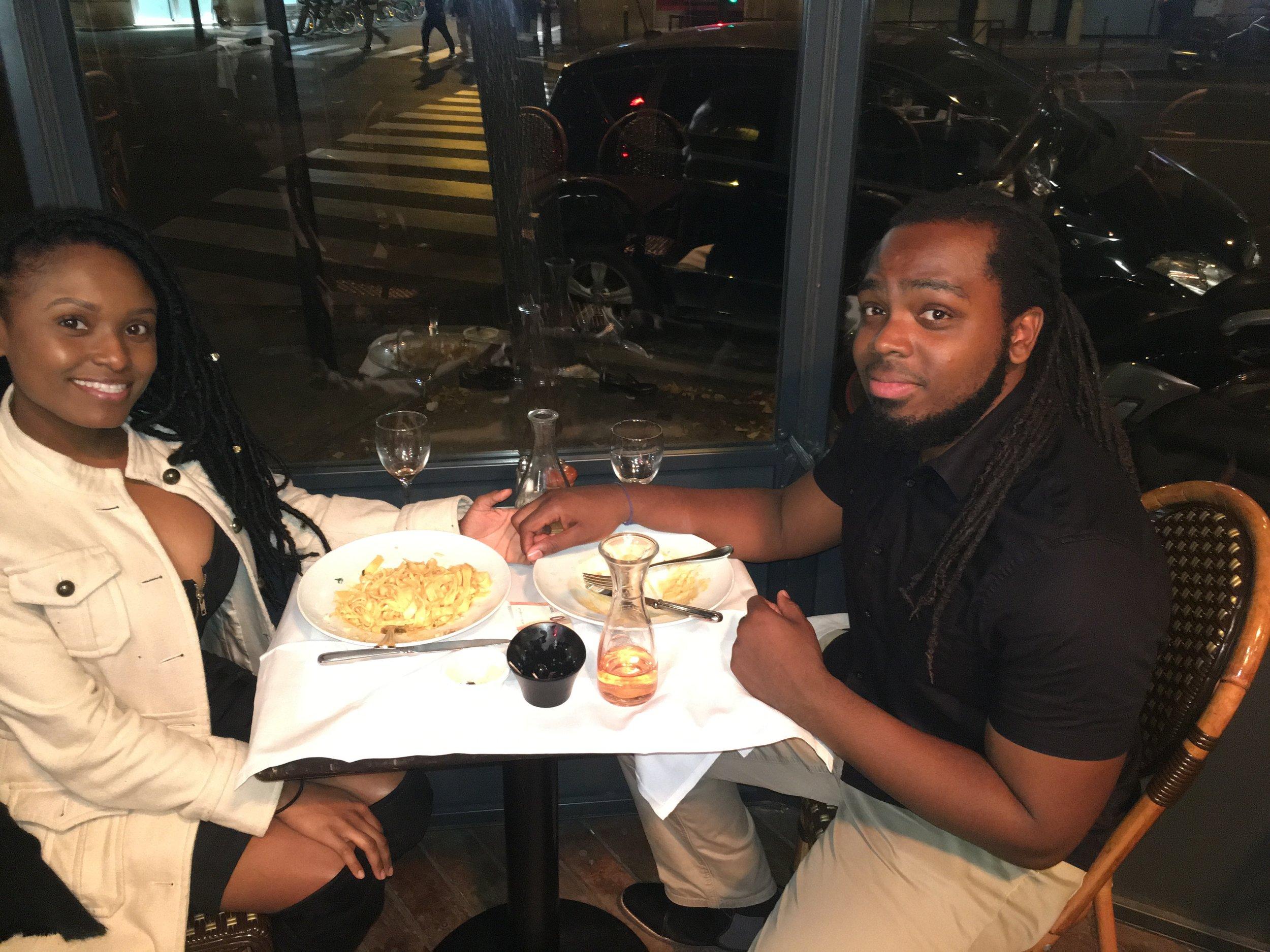 Itailian dinner in paris