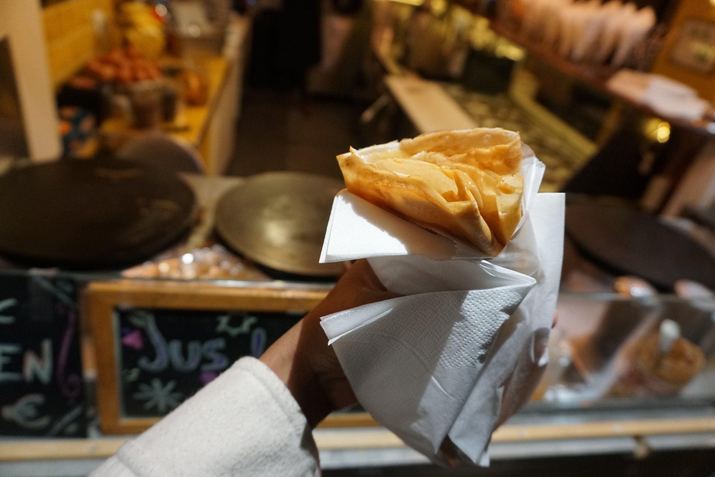 Enjoy the cuisine - Crepes, Wine, and small eateries