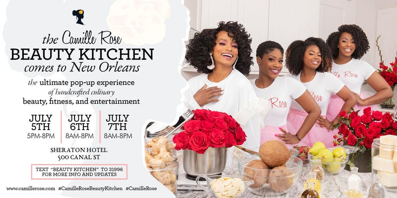 Camille Rose Beauty Kitchen - Anticipate power packed panels featuring Supa Cent, Monyetta Shaw + many more! Groove to performances from acts such as Cupid's Shuffle + June's Diary. Enjoy complimentary cocktails, hair appointments, yoga + twerk classes, and relaxing spa services.Learn more about this event at https://www.camillerose.live/