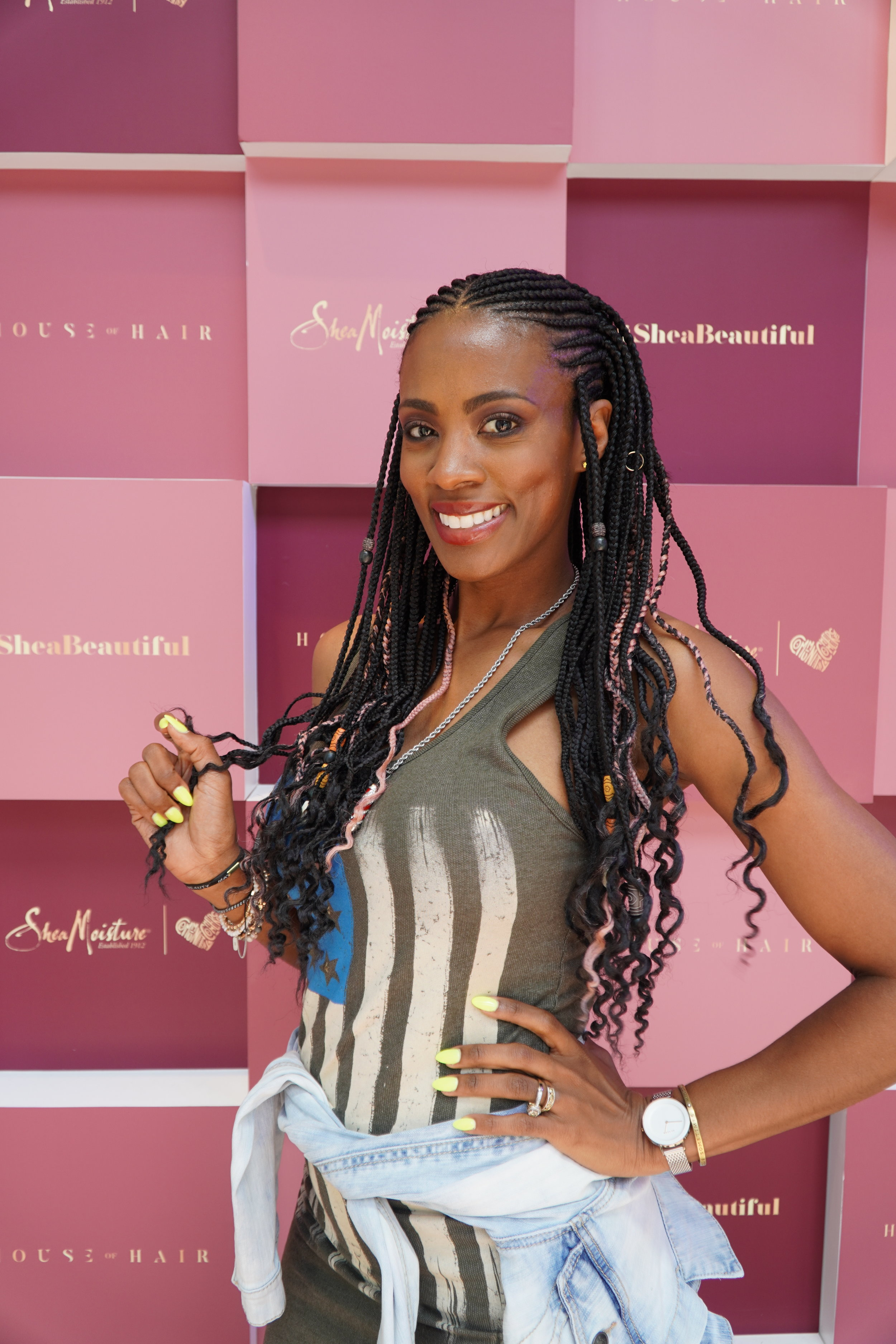 Braids were done by celbrity braider Typh. Click photo for artists website.
