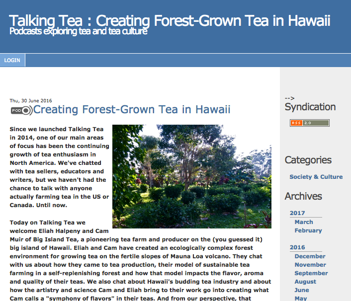 Creating Forest Grown Tea In Hawaii