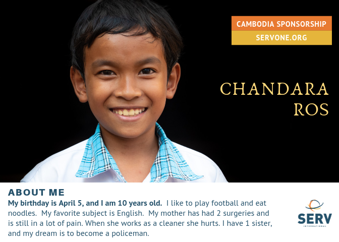 CHANDARA IS 1/2 SPONSORED.