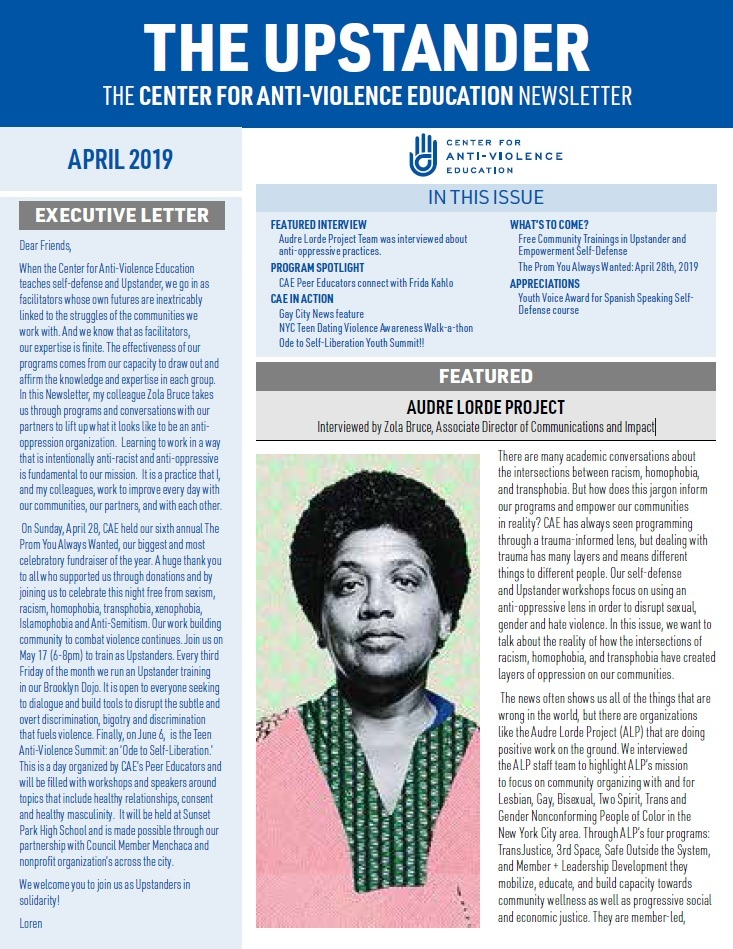 The Upstander April 2019