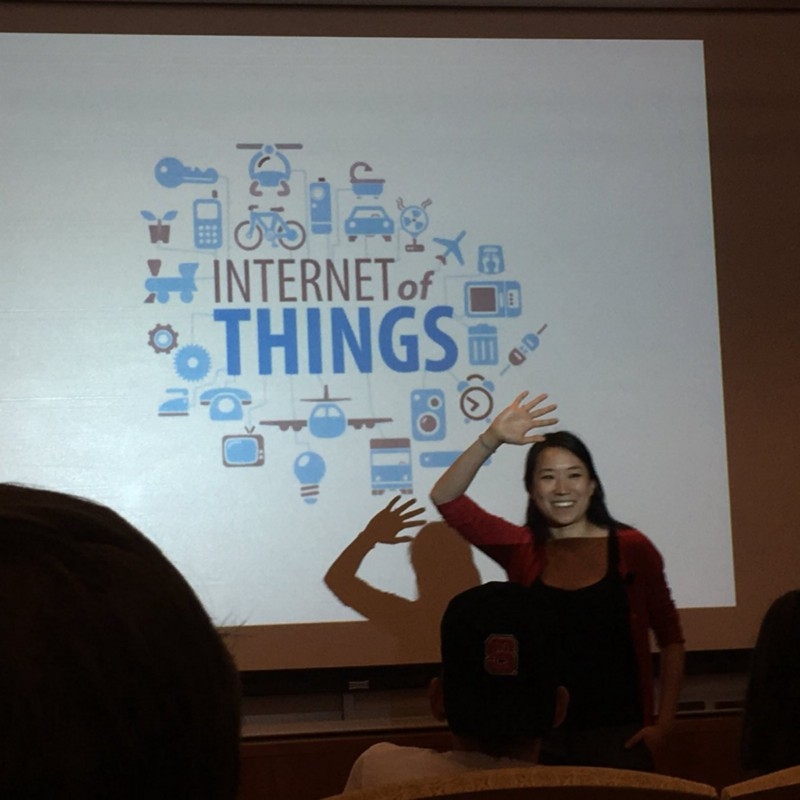 "Great advice-  @christinesunu  from  @BuzzFeed  says ""Be Awake and Unafraid!"" -Thanks for teaching at  @ncsulibraries  about IOT innovations!  pic.twitter.com/xQICrDSYAN   — Suzanne Phillips (@Suze_Phillips)  September 19, 2016"