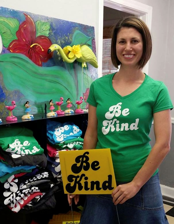 We love our customers and they love our motto!  Be Kind  Graphic tees are available in a variety of colors and sizes to spread the message.   Be Kind   out there!