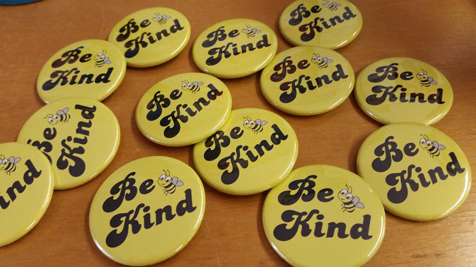 Be Kind  T-shirt in the Laundry? We get it! We made these handy dandy buttons so you can keep spreading the buzzzzz.