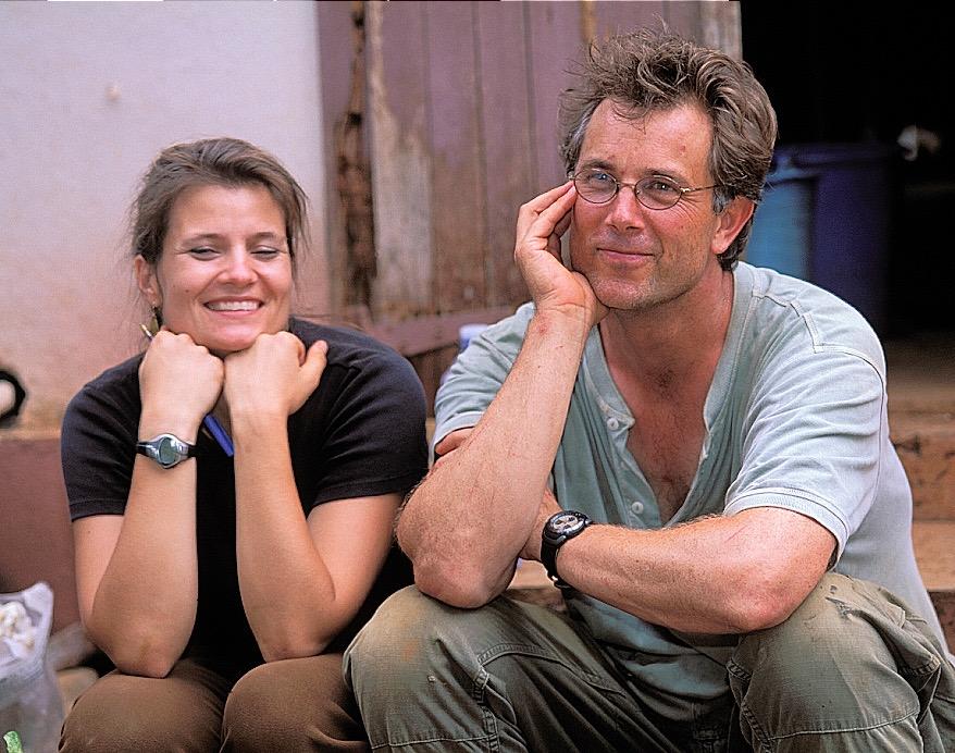 Susan and Graham at Berenty Reserve, Madagascar