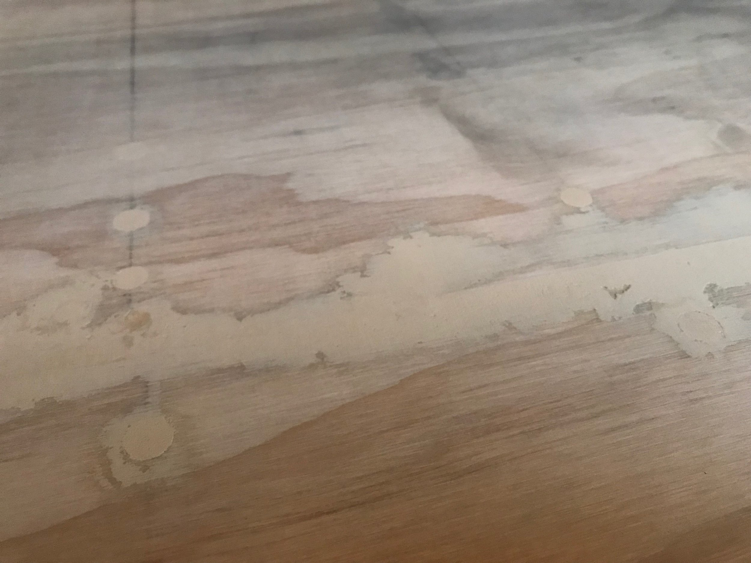 Smooth sanded polyfilled floor
