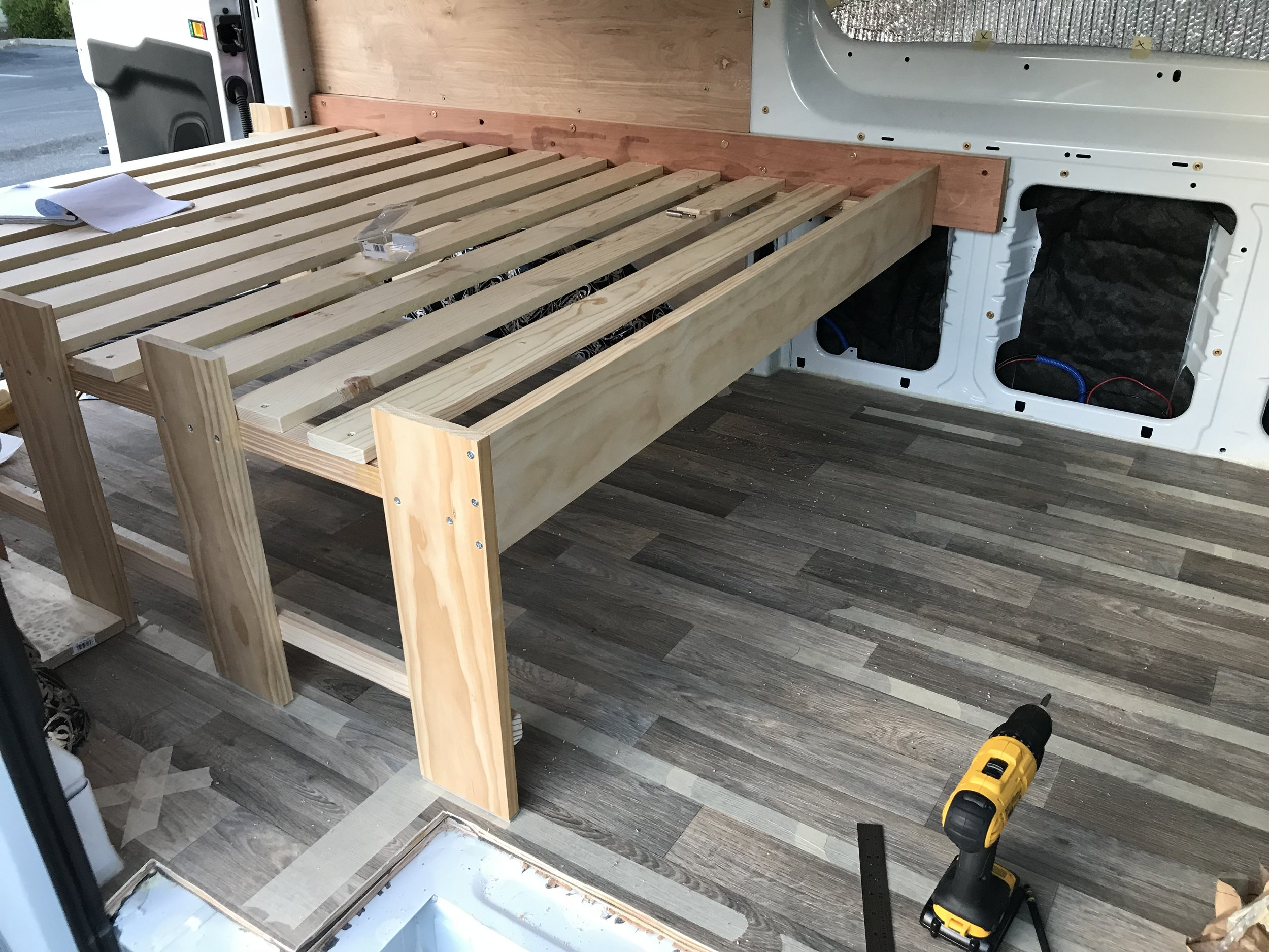 Completed bed